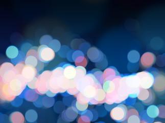 Blue bright bokeh background luminous pink blue defocused backdrop