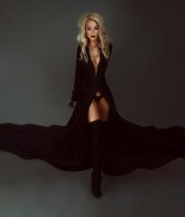 Beautiful model in black