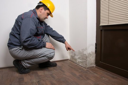 The craftsman shows severe damage to the wall