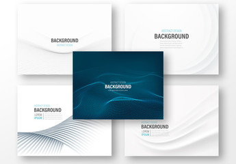 5 Presentation Layouts with Abstract Backgrounds