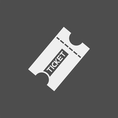 Ticket flat vector icon