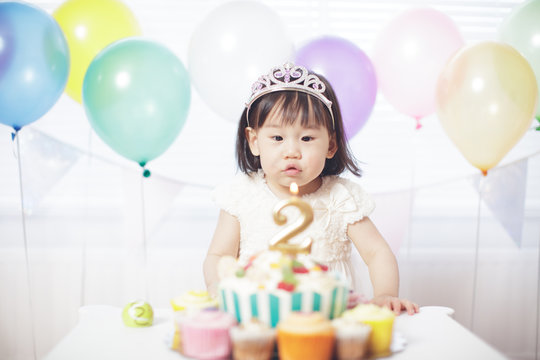 Baby girl celebrate her second birthday