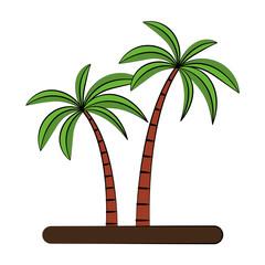 Tree palms cartoon vector illustration graphic design