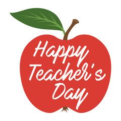Happy Teachers Day. Greeting card
