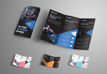 4 Trifold Brochures with Triangular Elements
