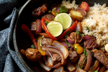 Lomo Saltado Peruvian Stir Fry Beef