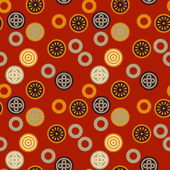 Chinese signs seamless pattern. Authentic design for digital and print media.