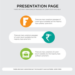 free stock,, rupees, f presentation design template in orange, green, yellow colors with horizontal and rounded shapes