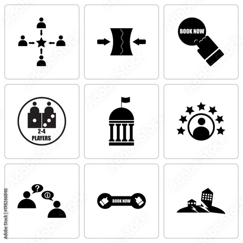 Set Of 9 Simple Editable Icons Such As Earthquake Book Now Discussion Board