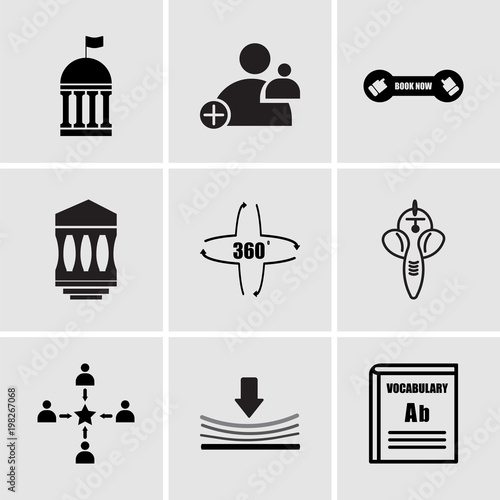 Set Of 9 Simple Editable Icons Such As Vocabulary Elastic Customer Experience Ganesh