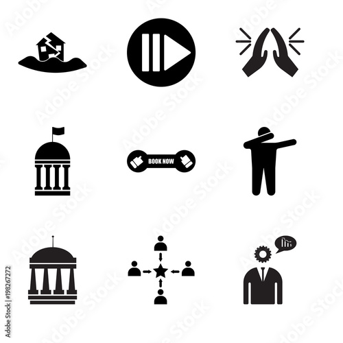 Set Of 9 Simple Editable Icons Such As Advisor Customer Experience Municipal Dab