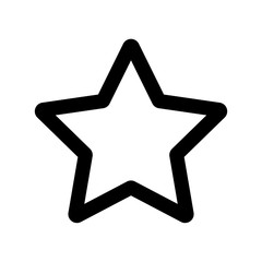 star icon outline vector