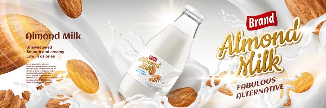 Almond milk ads