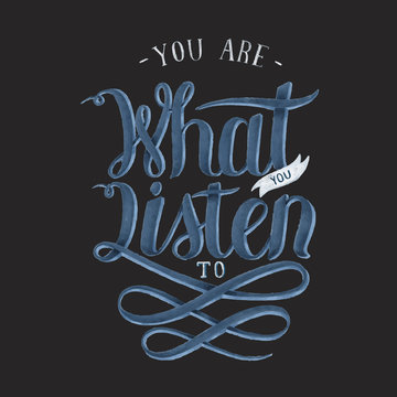 You are what you listen to hand drawn illustration