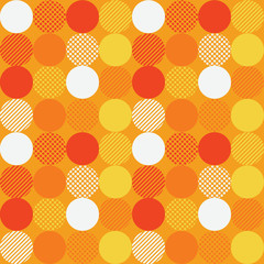 Circular emotion seamless pattern. Suitable for screen, print and other media.