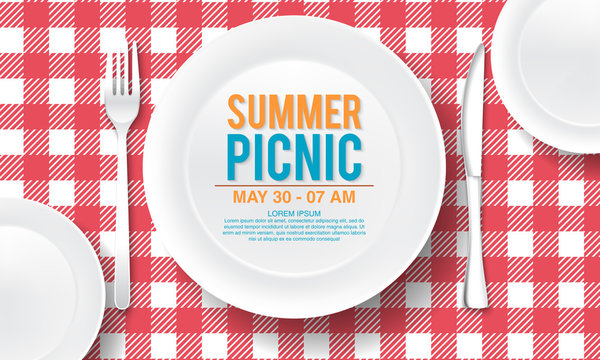 vector summer picnic design