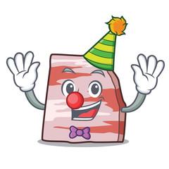 Clown pork lard mascot cartoon