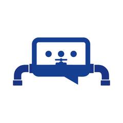 Plumbing Chat Logo Icon Design