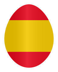 Easter egg with colors of Spain flag