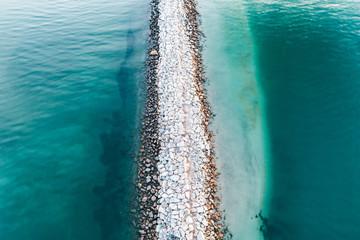 Sandbar in the Ocean