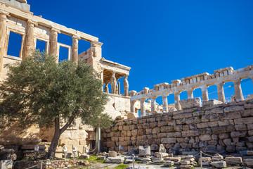 Erechtheion temple on the Acropolis, Athens, Greece