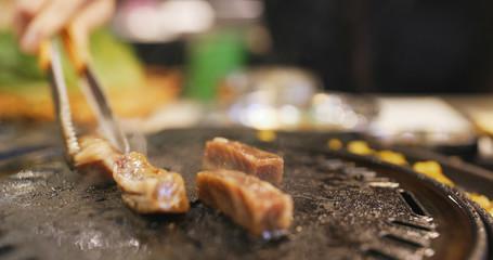 Korean BBQ, grill pork