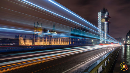 Bigben, Westminister bridge at Night, London