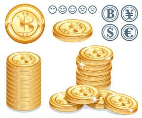 ビットコインのイメージイラスト