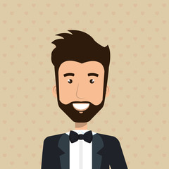elegant businessman avatar character