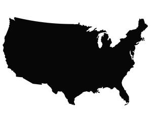 USA map outline vector