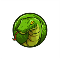 Green Snake head icon