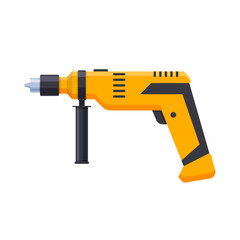 Working tool for construction, carpentry repair work. Electric drill.