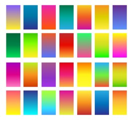 Color gradients. Gradient colors or softly colored backgrounds vector illustration