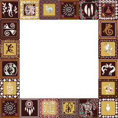 frame with imitation of elements of rock art