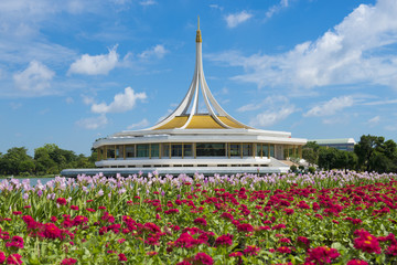 Wall Mural - The King Rama 9 Park in Bangkok, Thailand during flower summer season.