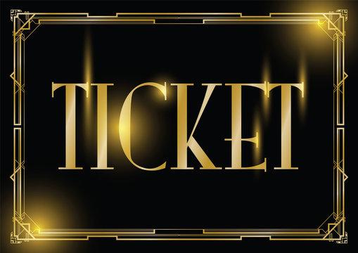 art deco ticket background