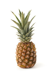 Ripe Pineapple on White
