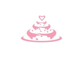 cake ilustration logo vector