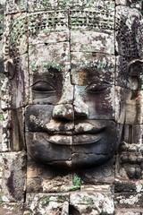 Buddha face, Bayon temple, Cambodia