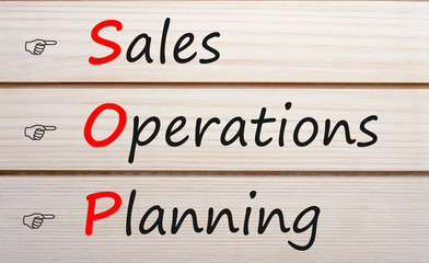 Sales and Operations Planning Аcronym Concept