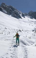 Skitour auf der Kemater Alm bei Axams in Tirol