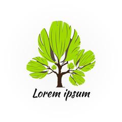 Abstract Tree Logo Design Vector.