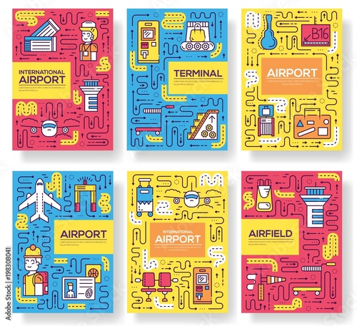 paper template of a airport