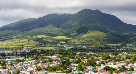 St Kitts Under Cloudy Mountains