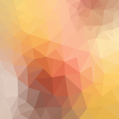 Light Yellow, Orange vector polygon abstract pattern. Geometric illustration in Origami style with gradient. A completely new template for your business design.