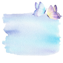 Watercolor background with butterfly. Can be used for your project and logo,wallpaper,greeting card,decoration.