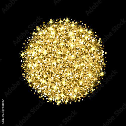 u0026quot golden glitter background  gold sparkle vector circle for