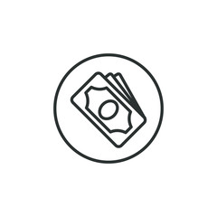 Black and white linear payment icon