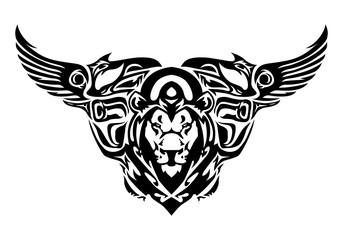 chimera head tattoo