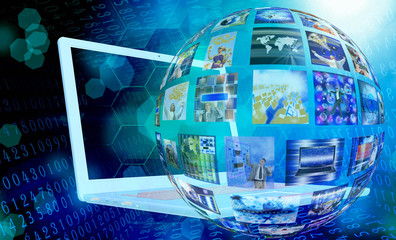 Fototapete - computer technology.email internet